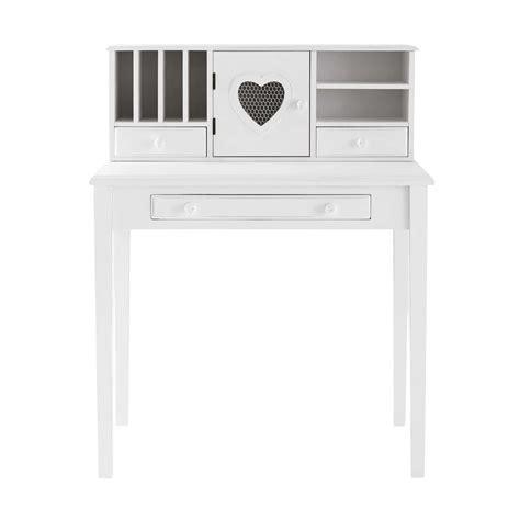 deco chambre romantique bureau secrétaire en bois blanc maisons du monde