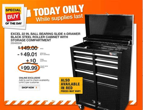 best online cabinets coupon code home depot excel ball bearing slide 4 drawer black steel