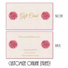 Free printable gift card templates that can be customized ...