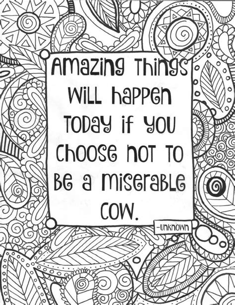 adult coloring page funny quote coloring sheet