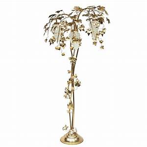1970s gold vine leaf palm floor lamp at 1stdibs With floor lamp with vines