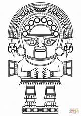 Coloring Inca Pages God King Aztec Tattoo Mayan Mask Peru Maya Empire Printable Incas Cultura Animals Drawing Supercoloring Totems Template sketch template
