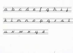 letter formation images cursive alphabet letters