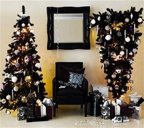 black  white christmas tree decorating ideas