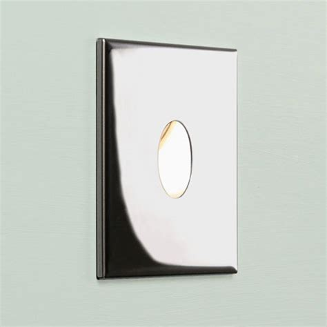 square chrome recessed led wall light for indoors ip65