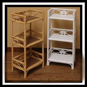 4378 3 tier wicker shelf stand With wicker stands bathrooms