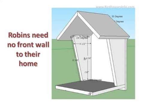 robin bird house plan youtube