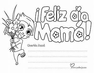 Mama Feliz Dia De Las Madres Coloring Pages