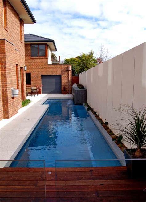 modern lap pool design ideas     blue