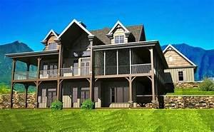 Beautiful 3 Story House Plans With Walkout Basement