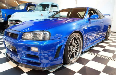 nissan skyline 2002 paul walker paul walker s nissan skyline gtr from fast furious iv