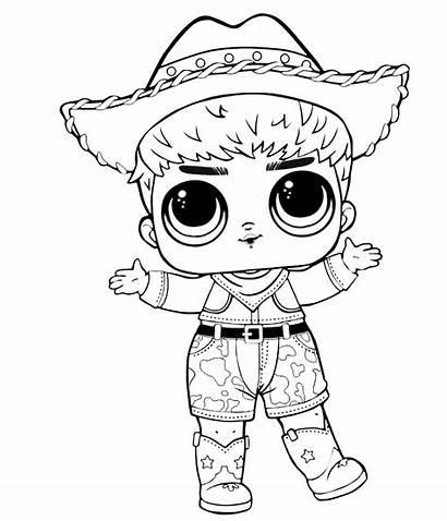 Lol Coloring Boy Dolls Printable Punk Doll