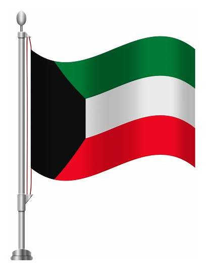 Kuwait Flag Clip Clipart Coloring Pages Flags