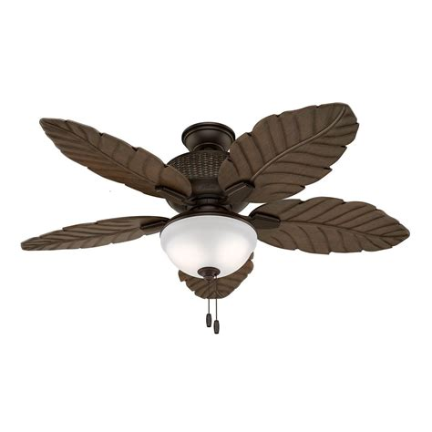 Damp Rated Ceiling Fans Without Lights by Hunter Fan 52 Quot Outdoor Ceiling Fan With Led Light Kit