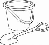 Shovel Bucket Coloring Pages Pail Beach Template Sand Printable Steam Sketch Getcoloringpages Getcolorings Clip Tocolor Print sketch template