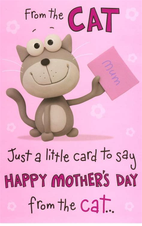 mum   cat happy mothers day card humour