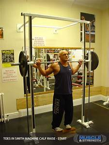 Toes In Smith Machine Calf Raise  Video Exercise Guide  U0026 Tips