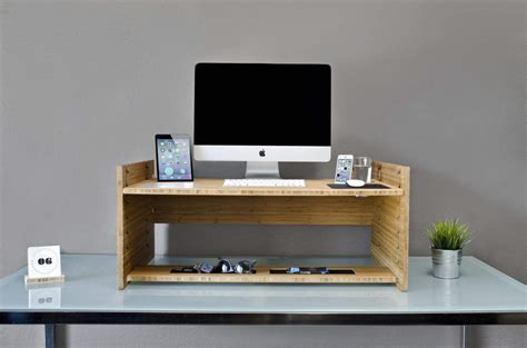 gorgeous  elegant bamboo gadget  turn  desk