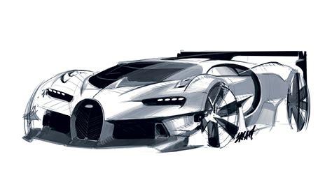 design a car bugatti vision gran turismo concept design sketch car