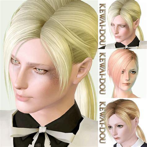 sims  male ponytail hair   hard part haircut