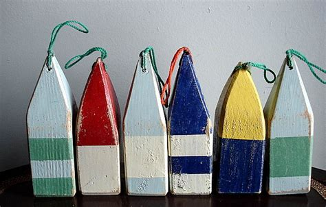 nautical decor mini wooden buoy traditional marine outfitters