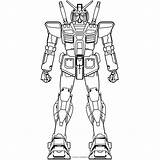 Gundam sketch template