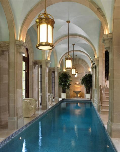 classic style indoor pool interiors  color