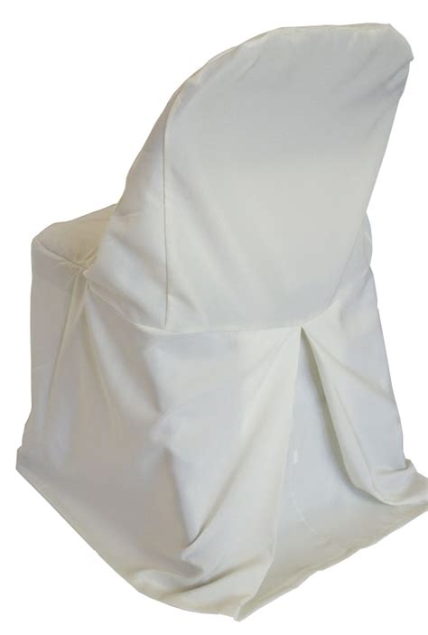 ivory polyester folding chair covers