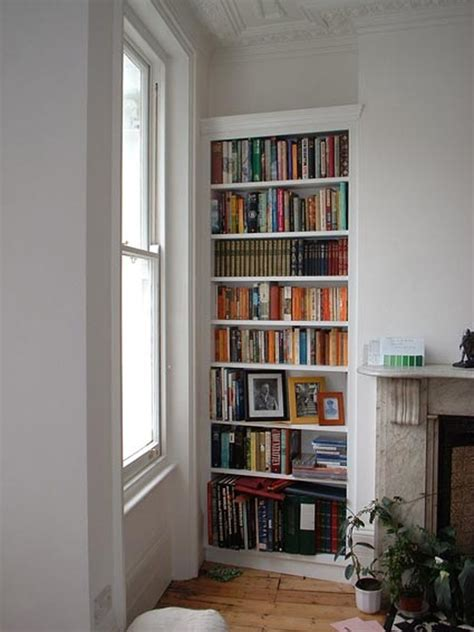 shelving   alcoves  side  chimney breast