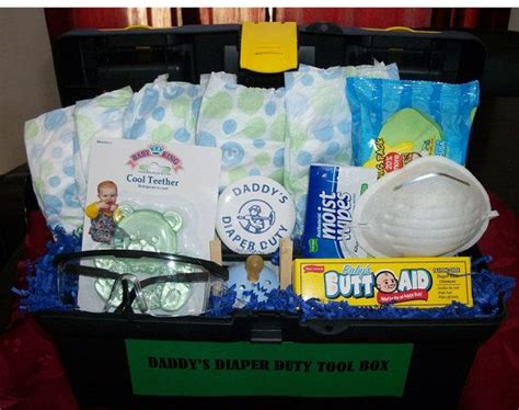 gifts for time dads diaper duty tool box baby shower new dad gift fun