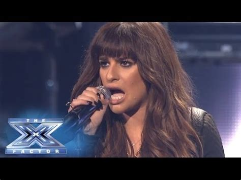 finale lea michele performs cannonball   factor