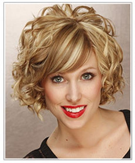 short curly hairstyles  oval faces