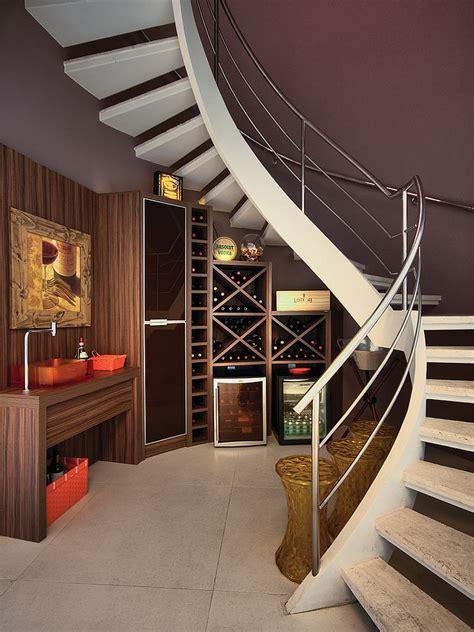 Creative Kitchen Ideas - 20 eye catching under stairs wine storage ideas