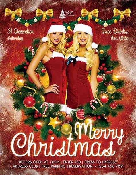 christmas twilight market flyer template free download3 download free christmas party psd flyer template