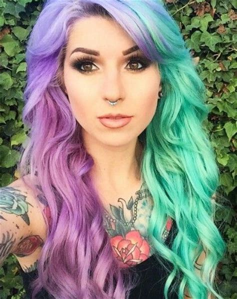 Hair Color Images by Half And Half Hair Coloring Images And Tutorials