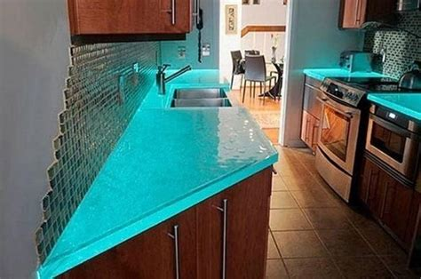 ideas for decorating kitchen countertops modern glass kitchen countertop ideas trends in