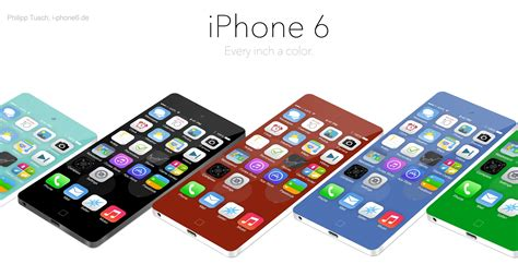 colors for iphone 6 iphone 6 concept seamlessly blends colors and aluminum 推酷