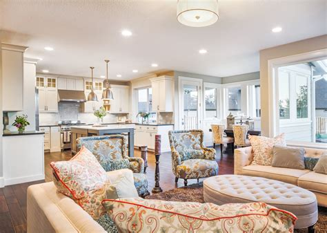 Decorating Ideas For Open Concept Living Room Dining Room And Kitchen by 42 Open Concept Kitchen Living Room And Dining Room Floor