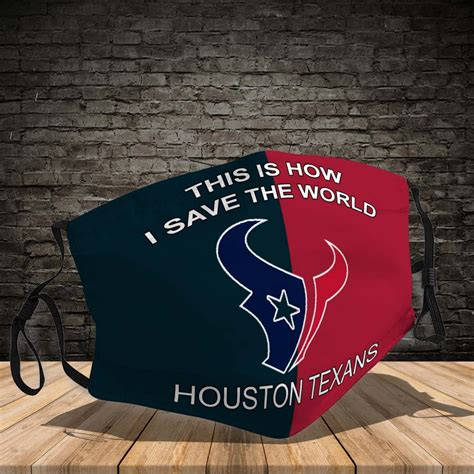 houston texans     save  world face mask
