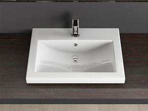 Designer Waschbecken Günstig : design keramik einbau waschtisch waschbecken 60cm weiss ~ Sanjose-hotels-ca.com Haus und Dekorationen