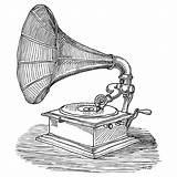 Phonograph Drawing Tattoo Addison Karl Gramophone Sketch Drawings Tocadiscos Ink Sketches Dibujos Pen Fineartamerica Recording Poster Musica Tattoos Folk Guardado sketch template