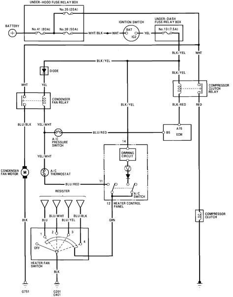 Honda Civic Ac Compressor Wiring by My 93 Honda Civic Has No Ac Compressor Clutch Condensor