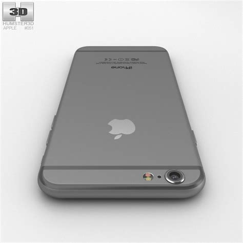 iphone 6 space grey apple apple iphone 6 space gray 3d model hum3d