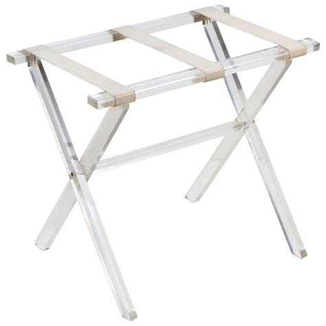 folding luggage rack folding lucite luggage rack by scheibe at 1stdibs