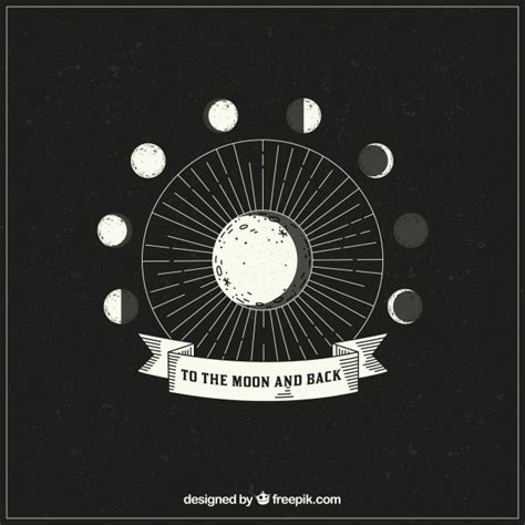 Moon Phases Background Background Of Lunar Phases Vector Free