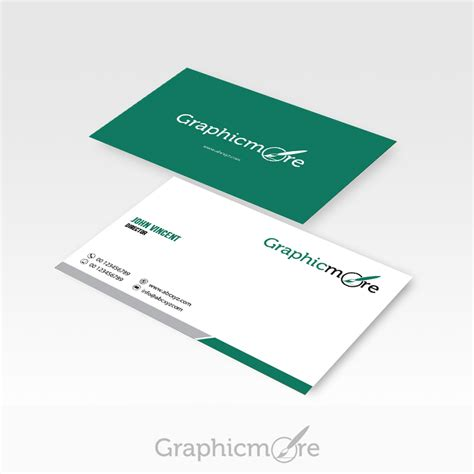 visiting card design template psd file green corporate business card design free psd file