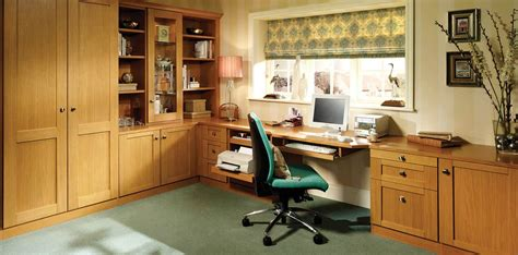 bespoke oak fitted home office glass display shelving