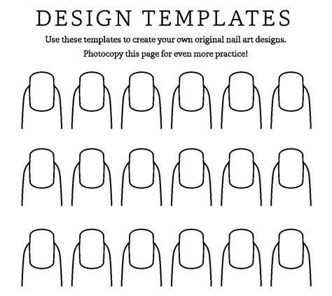 nail templates printable nail fall templates gallery diagram writing sle ideas and guide