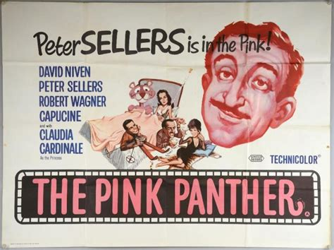 The Pink Panther (1963) British Quad Film Poster, Starring P
