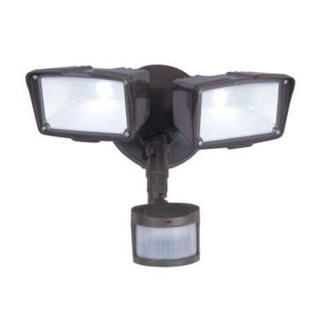 led security light home depot all pro 270 degree bronze motion activated led outdoor